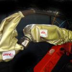 housse protection robot cover ferrage ignifuge plastron poignet ASP eulmont
